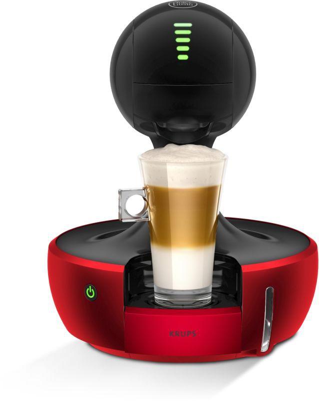 KRUPS KP350531 Nescafé Dolce Gusto Drop Red (červená) - Kapslový kávovar + dárek Nescafé Dolce Gusto Latte Macchiato Vanilla zdarma