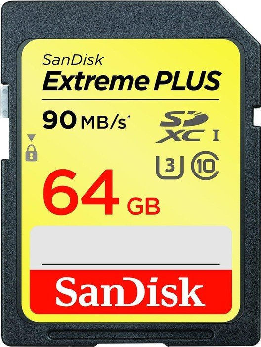 SanDisk Extreme Plus SDXC 64 GB Class 10