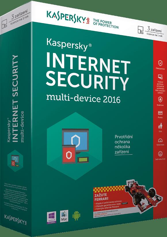 Kaspersky Internet Security MD 2016 pro 2 PC /12 měsíců, obnovení licence