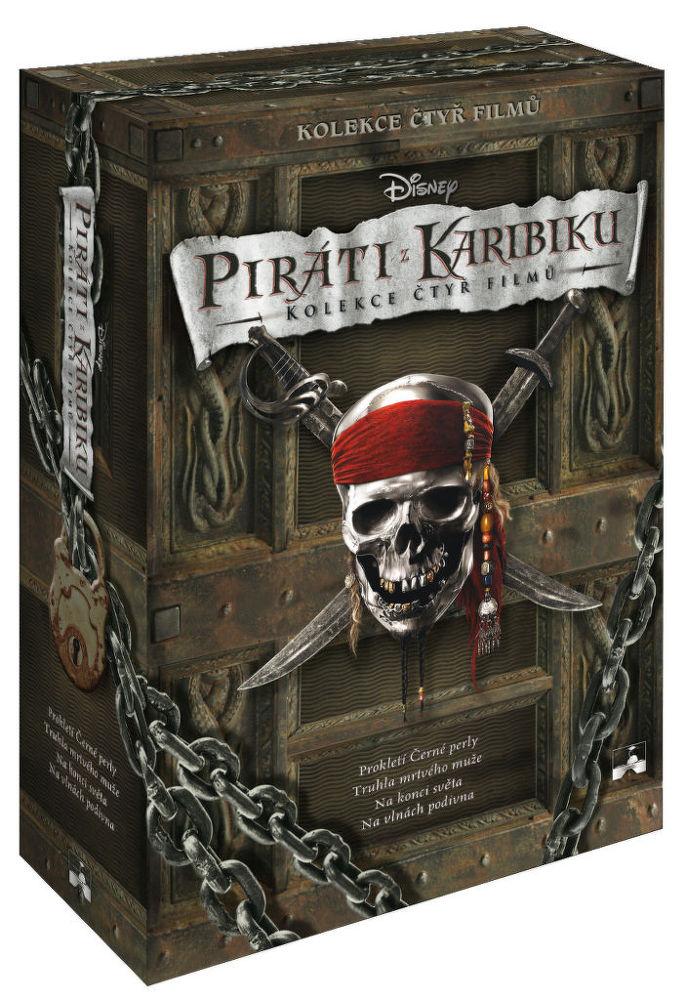 Piráti z Karibiku 1-4 - 4xDVD