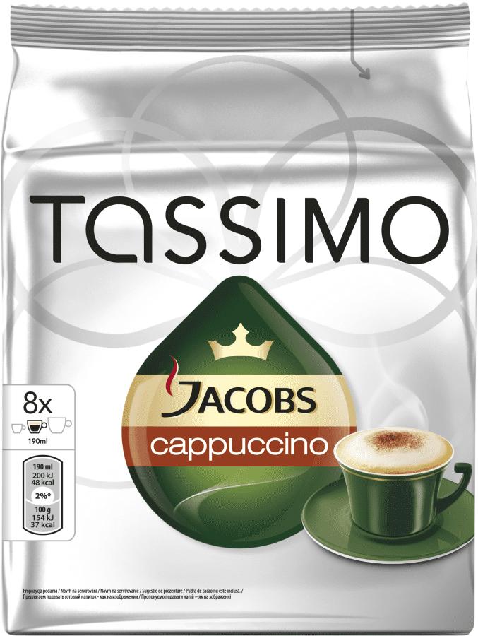TASSIMO Cappuccino - kapslová káva pro kávovary Tassimo