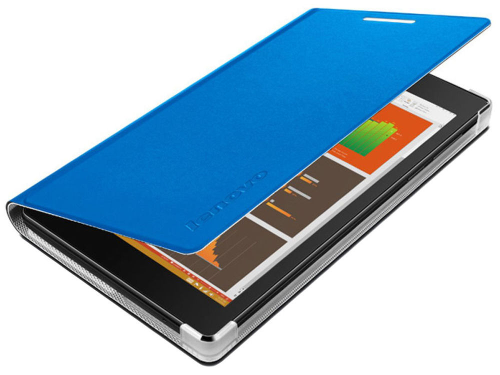 Lenovo TAB 2 A7-10 Folio Case and Film (pouzdro + fólie) - modrá (ZG38C00006)