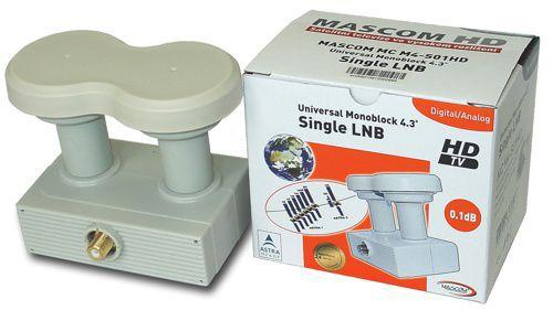 Mascom LNB-MCM4S01HD - monoblock Single LNB - pro 1.účastníka/2 družice