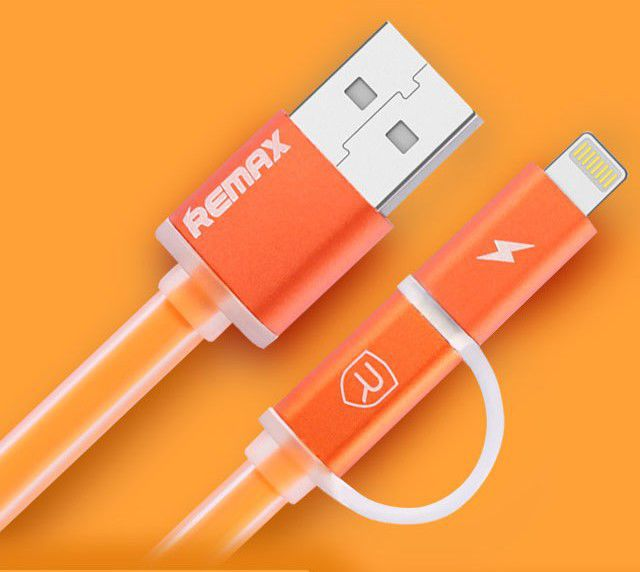 Remax AA-1147 Aurora 2v1 USB kabel (oranžový)