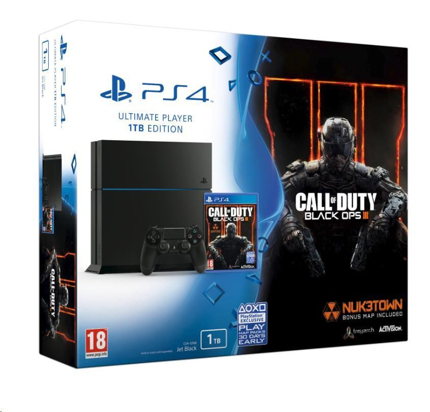 Sony PlayStation 4 1 TB (černý) + Call of Duty: Black Ops 3