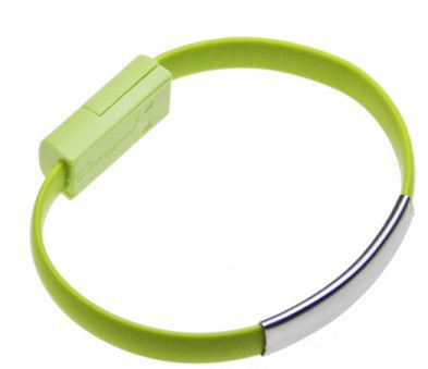 Aligator Bracelet nabíjecí kabel pro Apple iPhone 5/6 (zelený)