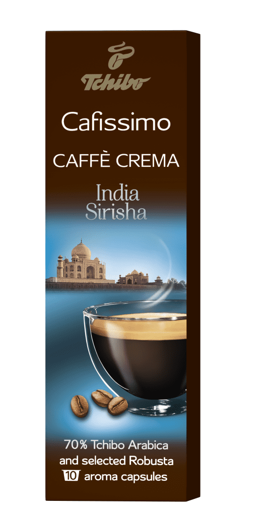 Tchibo Cafissimo Caffé Crema India Sirisha 75g - Kapslová káva