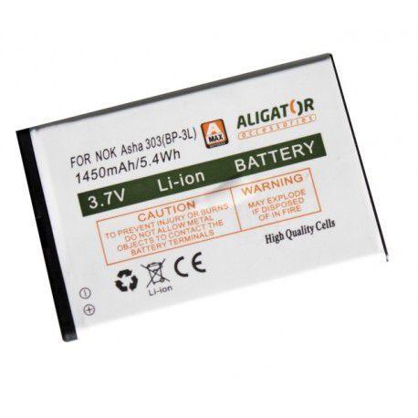 Aligator baterie pro Nokia Lumia 710 / Asha 303, Li-Ion 1450 mAh