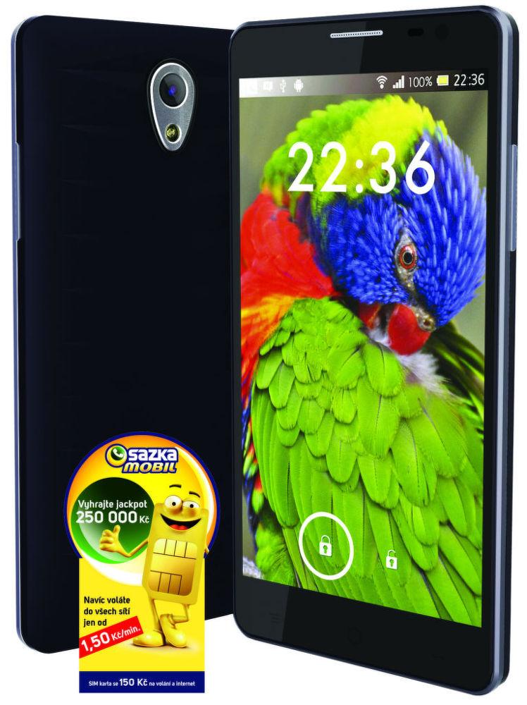 "Sazka 5"" Android chytrý telefon + SIM SAZKAmobil 150 Kč"