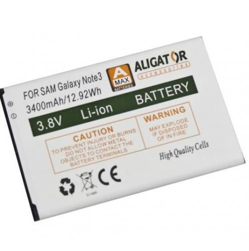 Aligator baterie pro Samsung Galaxy Note 3, Li-Ion 3400 mAh