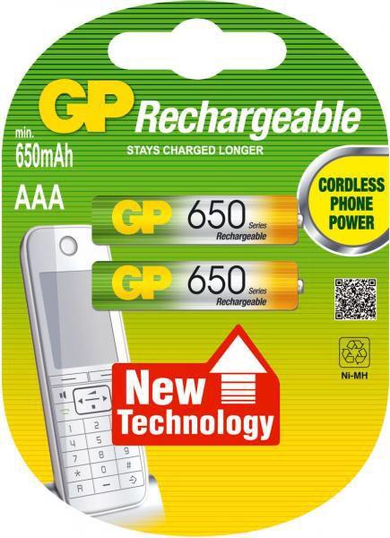 GP - AAA (LR03) 650mAh, 2ks