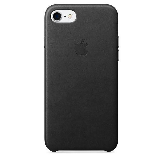 Apple kožené pouzdro na iPhone 7 (černé)