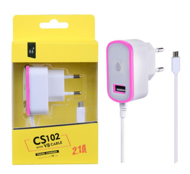 Aligator Plus CS102 Micro USB (bílo růžová)