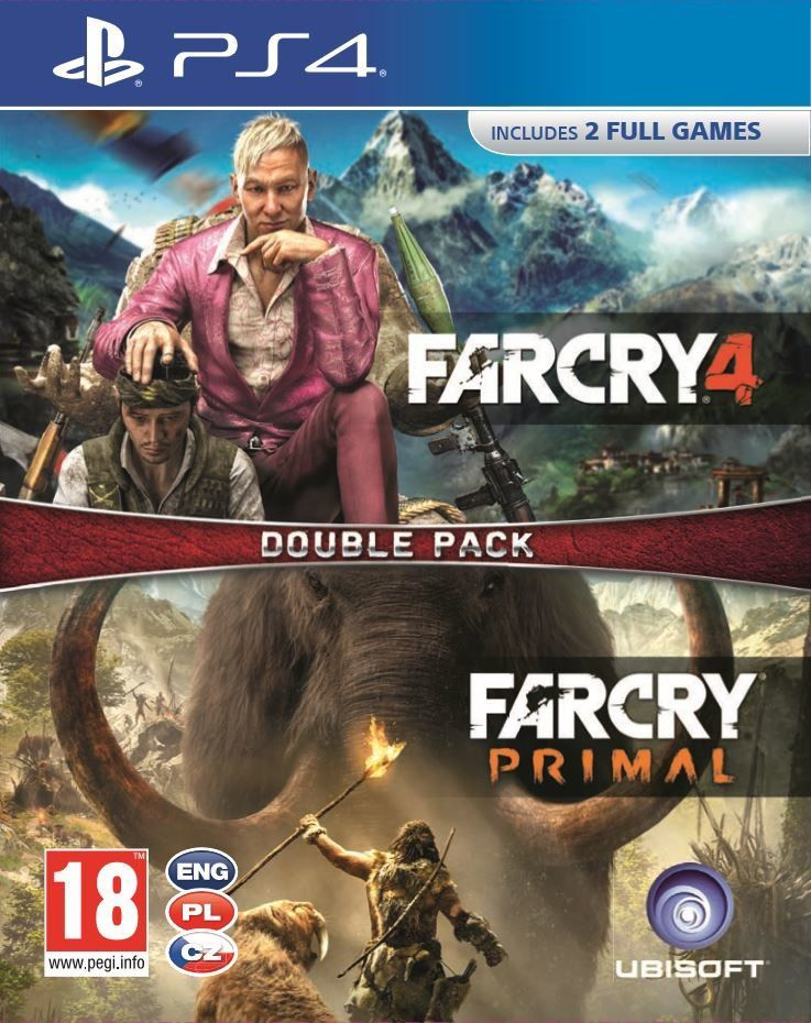 Ubisoft 2 hry pro PS4: Far Cry Primal + Far Cry 4