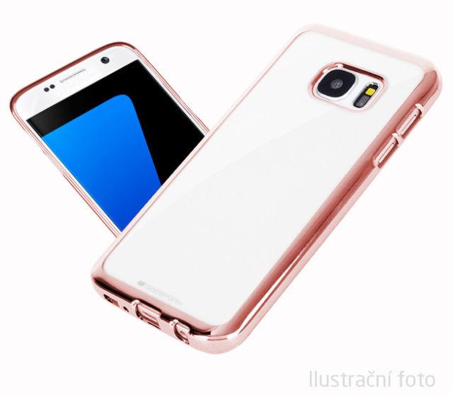 Aligator pouzdro pro Samsung Galaxy S6 Edge (červeno zlatá)