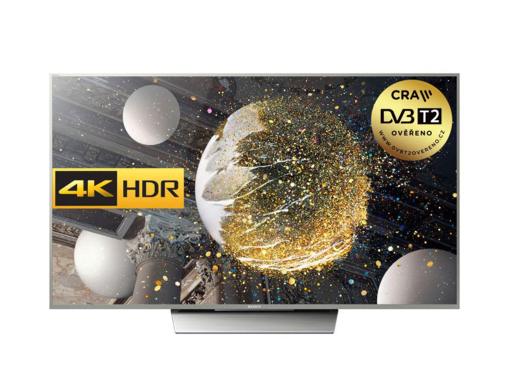 Sony KD-75XD8505 (černá) + dárek Set 3 DVD filmů zdarma
