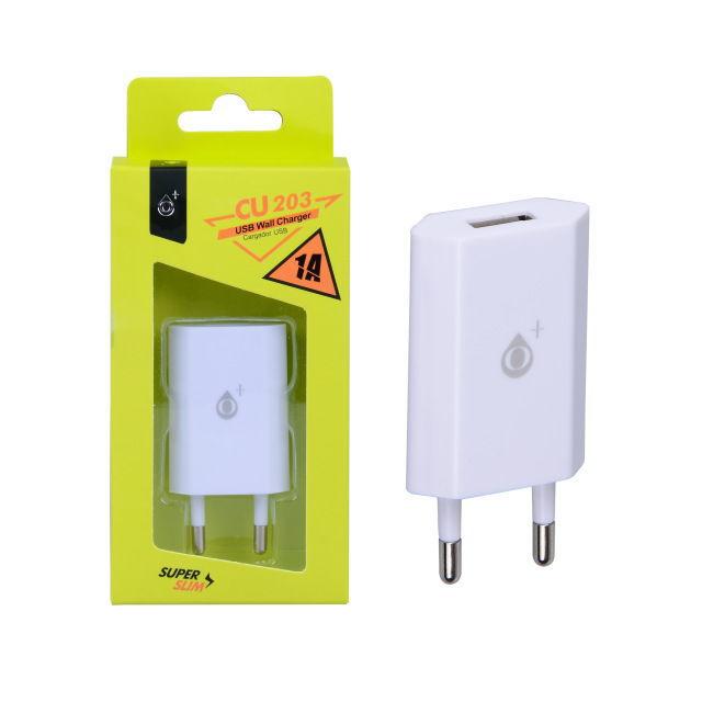 Aligator mini nabíječka USB (bílá)
