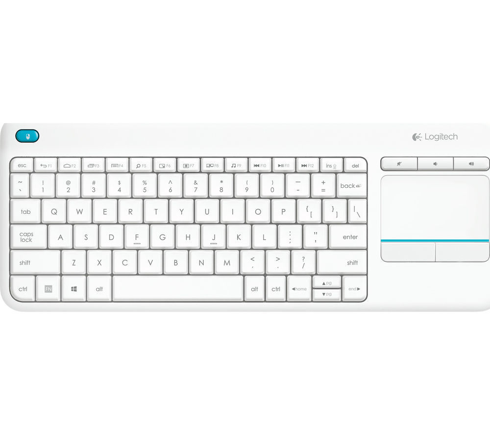 Logitech Wireless Touch Keyboard K400 Plus (bílá)