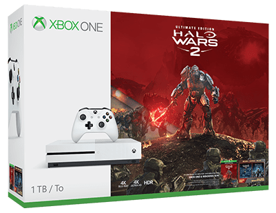 Microsoft Xbox One S 1 TB (bílá)+Halo Wars 2 Ultimate Edition