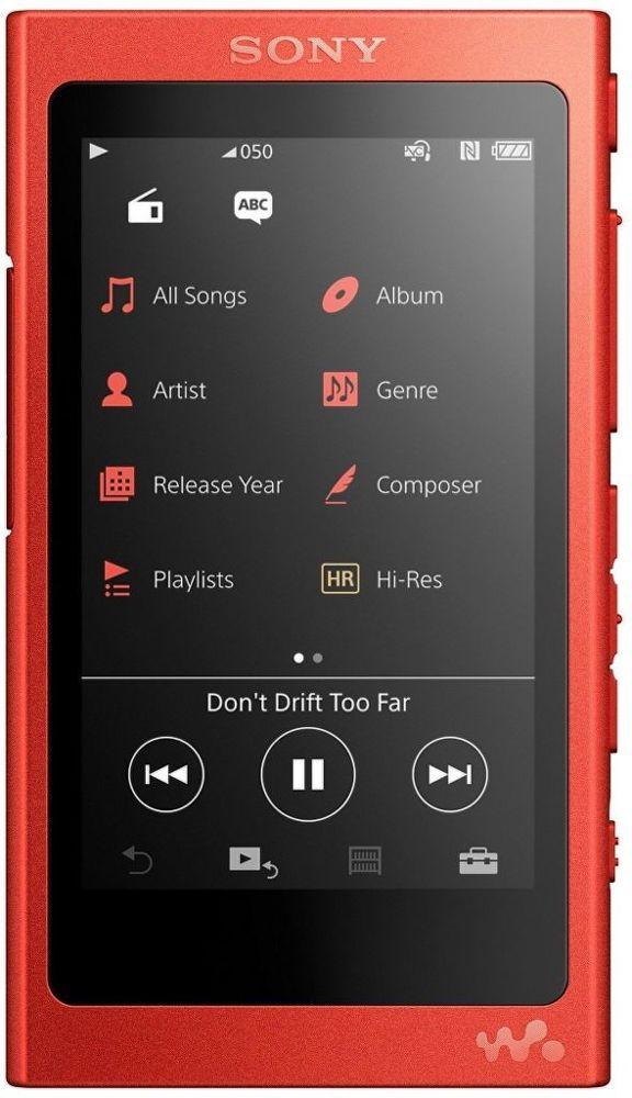 Sony NW-A35R 16GB červený