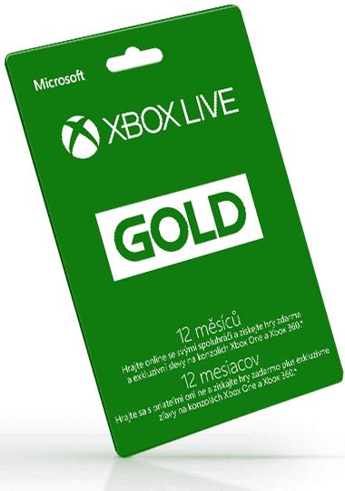 Xbox Live Zlaté členství na 12 měsíců