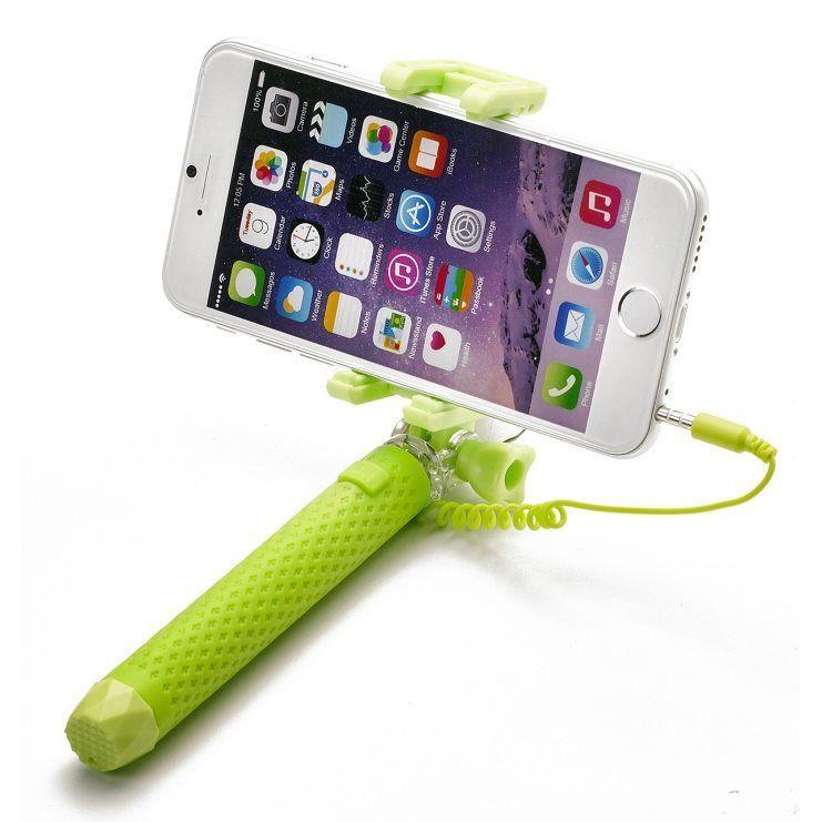 Celly Miniselfie zelená selfie tyč
