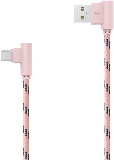 Mobilnet Micro USB kábel 2m, růžový