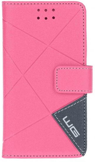 Winner Cross flipbook pouzdro pro Lenovo K5/K5Plus, růžové