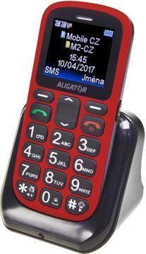 ALIGATOR A321RB RED, Mobilní telefon