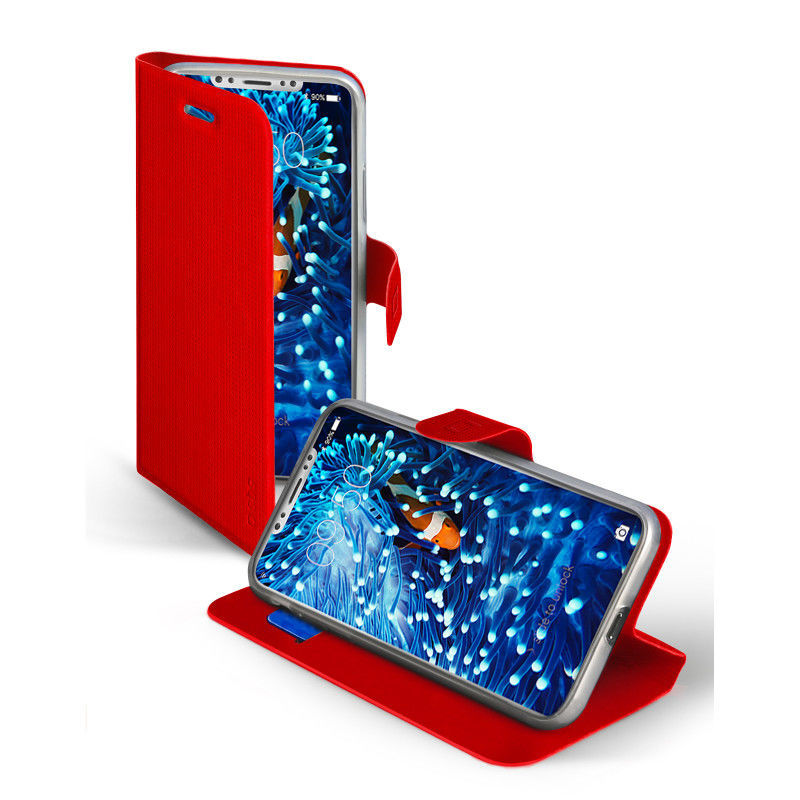 SBS knížkové pouzdro pro iPhone X červené