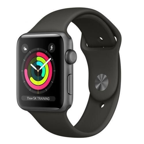 Apple Watch Series 3 38mm (vesmírně šedý hliník/šedý sportovní řemínek)
