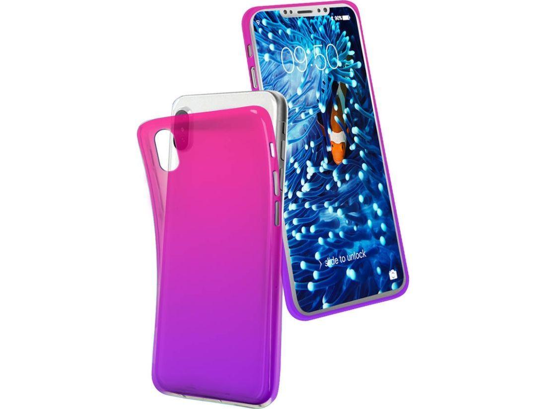 SBS Cool cover iPhone X růžová/fialová