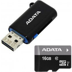 ADATA Premier microSDHC 16GB UHS-I Class 10 + OTG USB čtečka