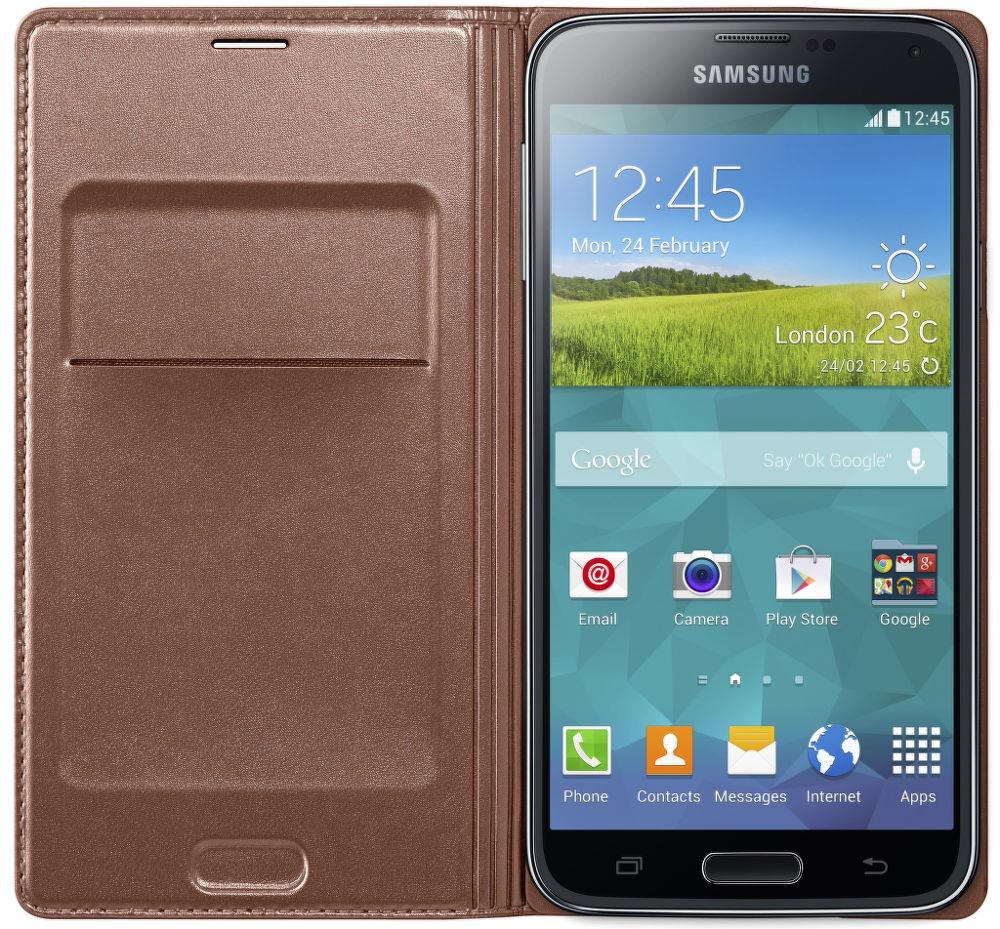 Samsung flipové pouzdro EF-WG900BF pro Galaxy S5