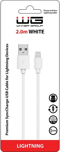 Winner datový kabel pro iPhone 5/6 2m, bílá
