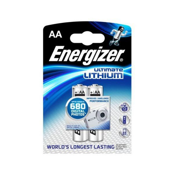 Energizer E2/ULTIMATE L91 AA, litiová / 2
