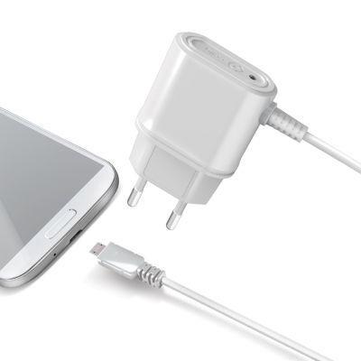 Celly Cestovní nabíječka micro USB - 1A (bílá)