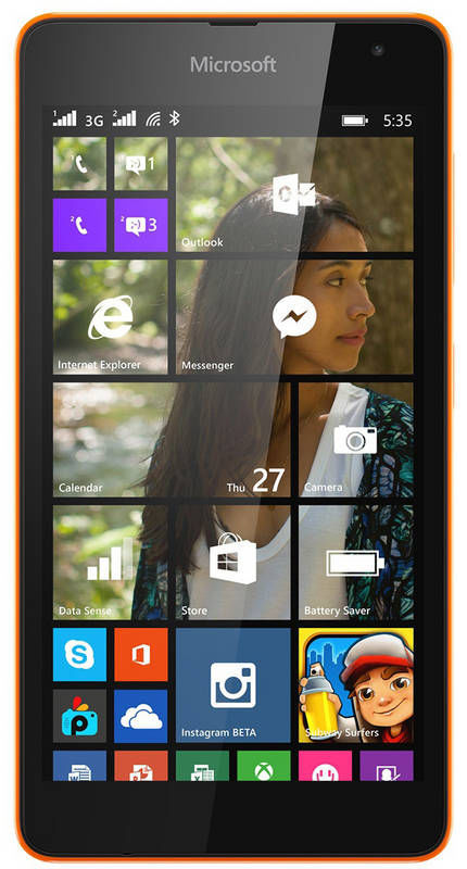 Microsoft Lumia 535 Dual SIM (oranžový)