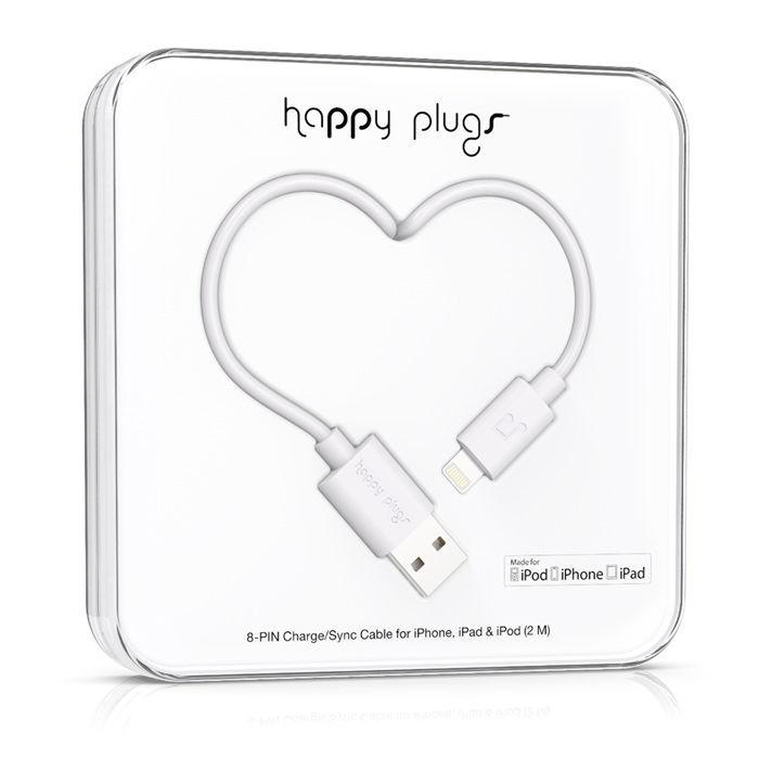 Happy Plugs 9909 - Lightning kabel (bílý)