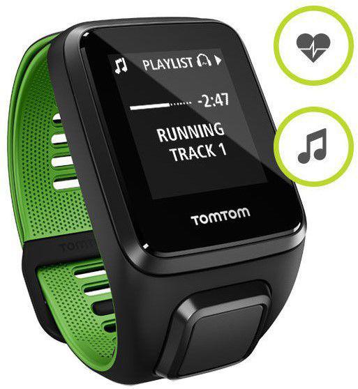 TomTom Runner 3 L Cardio+Music+Headphones (černo-zelené)