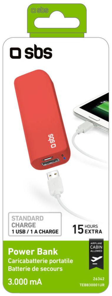 SBS TEBB30001UR (červená) - powerbanka