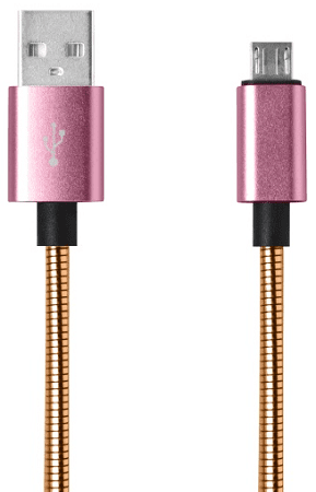 Mobilnet micro USB kabel 1m 2A, měděný
