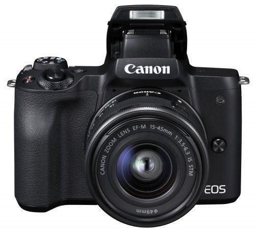 Canon EOS M50 černá + EF-M 15-45mm IS STM + EF 50mm STM