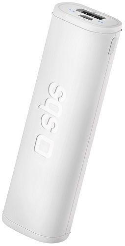 SBS Extra Slim Dual Charge powerbanka 2500 mAh, bílá