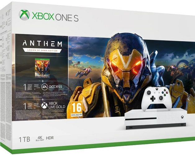 Microsoft Xbox One S 1 TB + Anthem