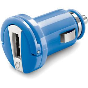 CellularLine autonabíječka s USB výstupem, 1A (modrá)