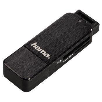 123901 HAMA Čtečka karet USB 3.0 SD / microSD, černá
