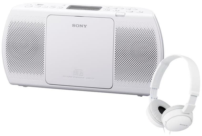 Sony ZS-PE40CP (bílé) + MDR-ZX110W (bílá)