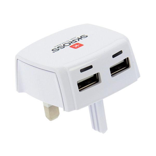 Skross DC10UK - nabíjecí adaptér UK s USB