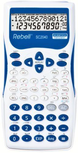 Rebell SC2040 BL vědecká kalkulačka, bílo-modrá